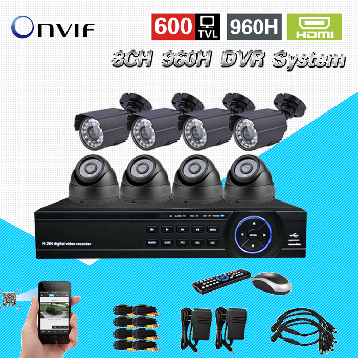 TEATE home video surveillance security camera system 600TVL 8ch 960H cctv HDMI 1080P USB 3G WIFI DVR video recorder kit CK-238 safurance h 264 8ch d1 dvr hdmi audio digital surveillance video recorder for home cctv security camera