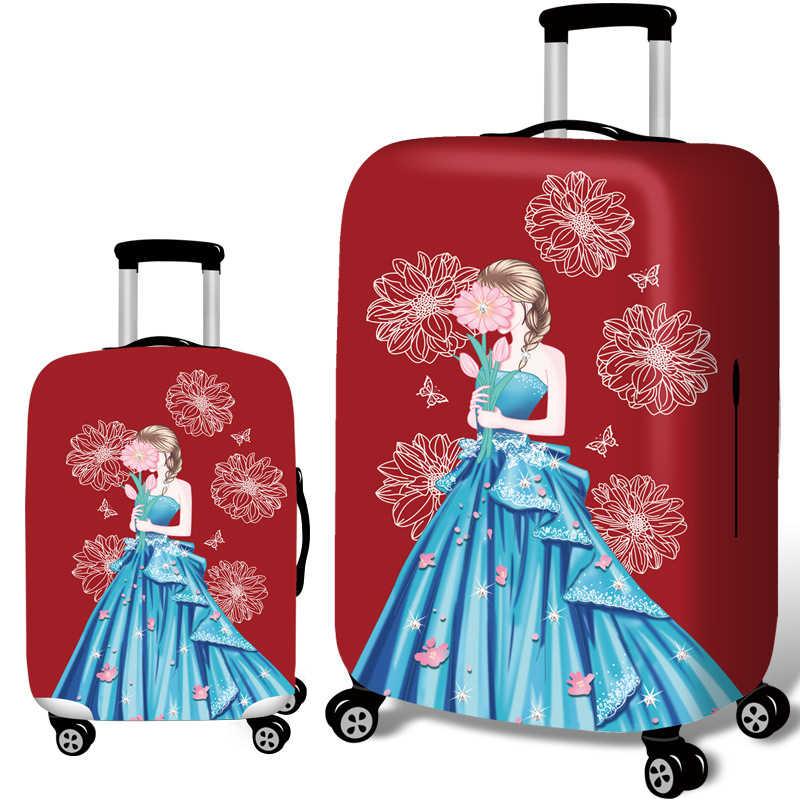 REREKAXI 3D платье принцессы дорожный костюм Чехол для багажа 18-32 дюймов тележка эластичная защита от пыли Чехол для багажа чехлы