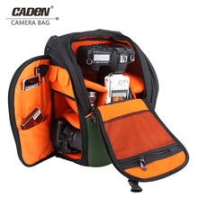 цена на CADeN Camera Bags DSLR Backpack Photo Video Waterproof Polyester Black Protective Case for Dslr Camera Nikon Canon Sony K5