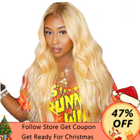 360 Lace Frontal Wig Pre Plucked With Baby Hair 613 Blonde Lace Front Wig 180% Density Body Wave Human Hair Wigs Ever Beauty