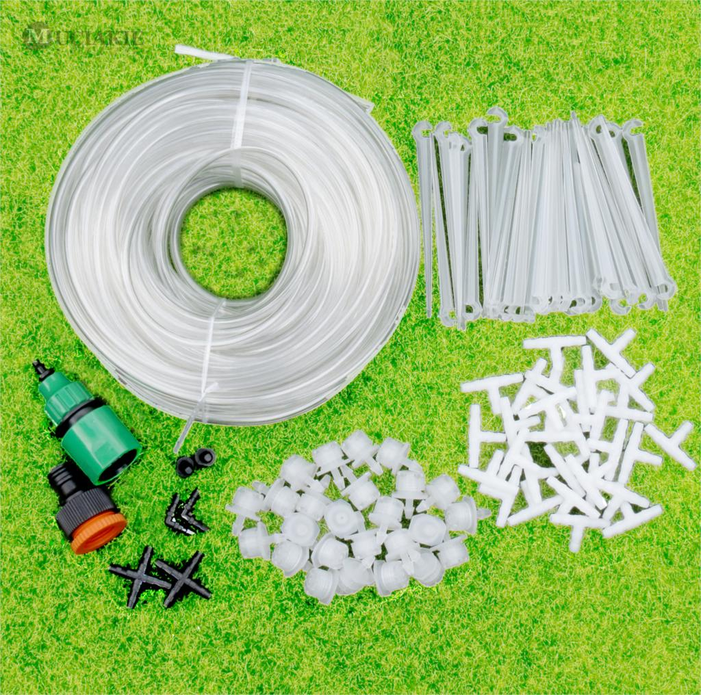 MUCIAKIE 25m Hohe Qualität Transparent Weiß Garten Bewässerung Bewässerung Kits Micro Drip Rasen Gras Pflanzen Wasser System