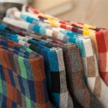 Mantieqingway Fashion Colorful Cotton Socks for Mens Autumn Winter Business Leisure Breathable Male Warm Long Tube Sock