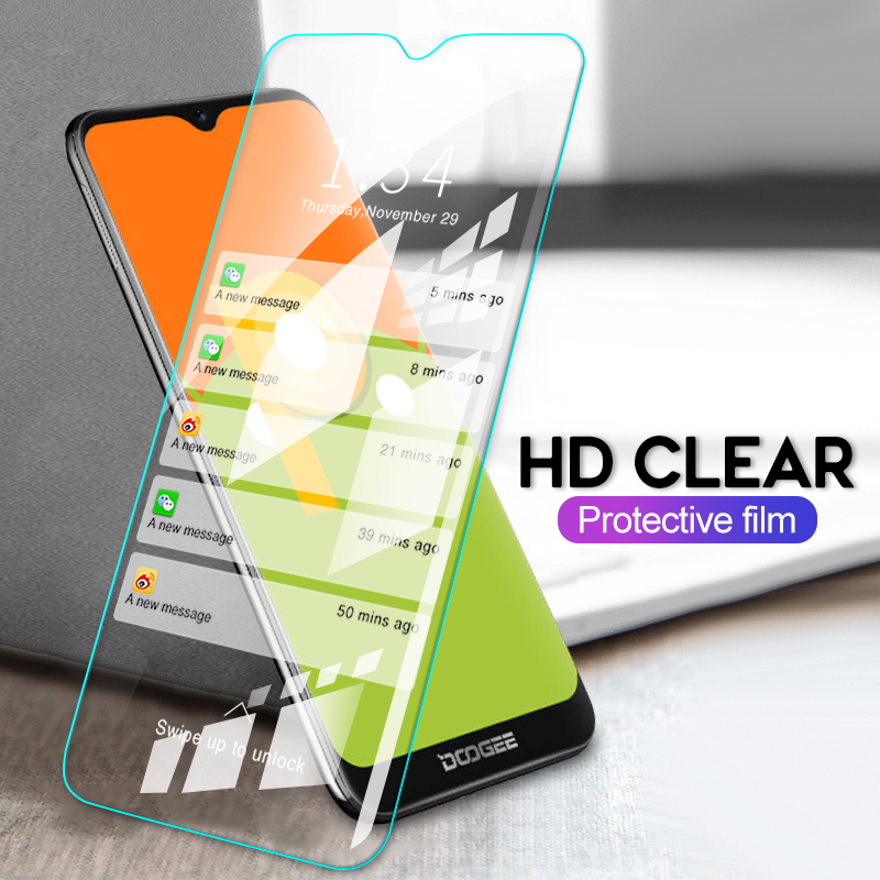 "GerTong Tempered Glass For Doogee Y8 Screen Protector Film For Doogee Y8 Tempered Glass 6.1"" inch Protective Glass Cover Film 9H(China)"