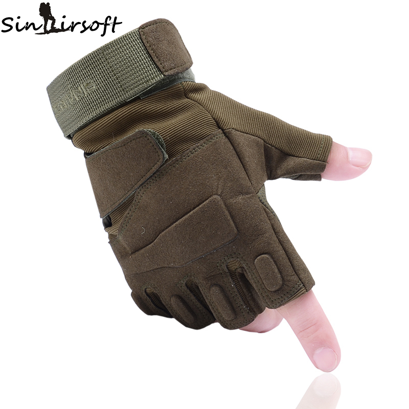 SINAIRSOFT Outdoor Climbing Sport Camping Hiking Riding Tactical Gloves Mens Cycling Half Finger Classic Gloves