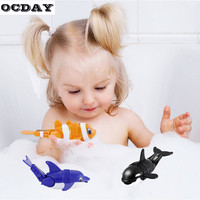 Hot OCDAY Baby Bath Toys Swim Fish Funny Activated Battery Powered Robot Cute Animal Baby Bathing