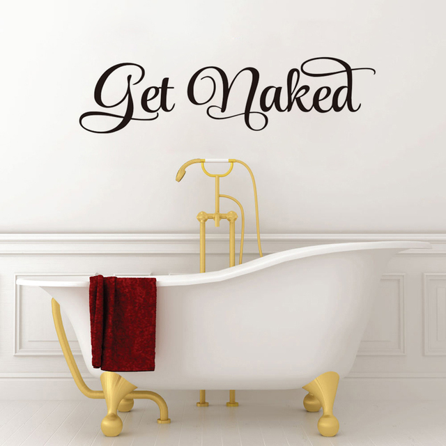 Get Naked Bathroom Wall Decal Wall Sticker Vinyl Toliet Living Room Home  Decor Decals Poster Wallpaper