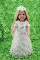 Pretty 18'' Wedding Dress Doll Blonde Hair Realistic Vinyl Type Collectible Bride Dolls So Truly Real Kids Toys