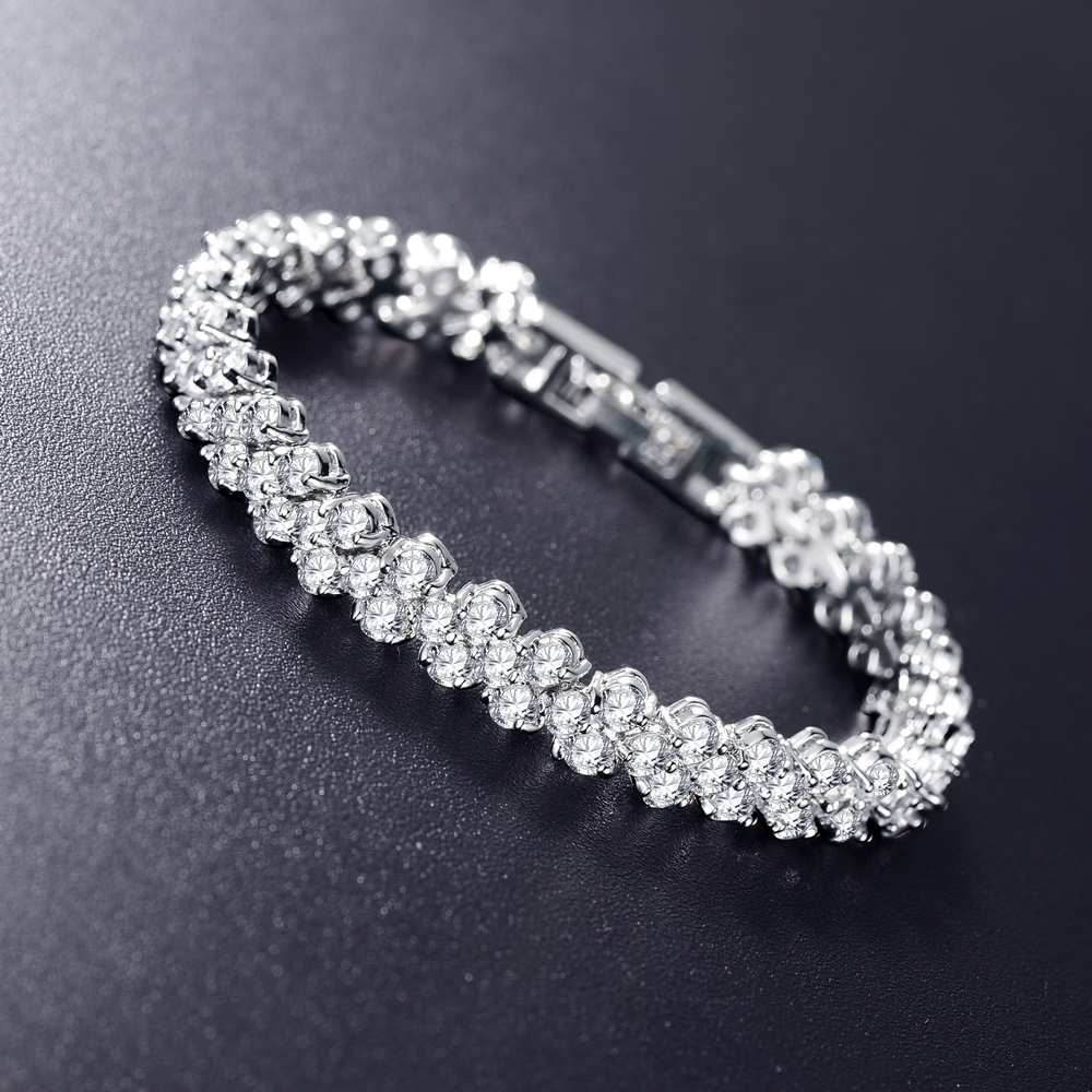 Lzeshine Unique Wedding Engagement Bracelet Jewelry Aaa Clear Color