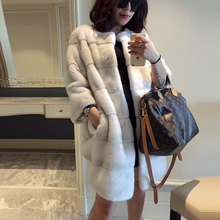 The new fashion women s natural mink coat 100 fur mink fur coat high quality warm
