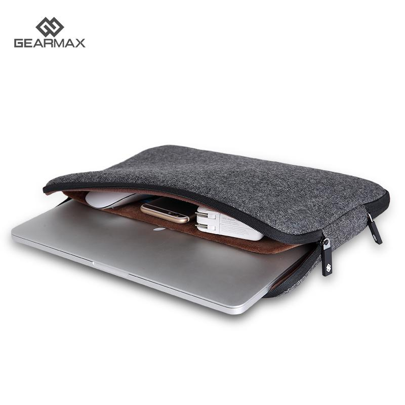 the latest ad19f 458ab US $14.95 18% OFF|GEARMAX Laptop Bag for iPad Pro 12.9 Inch Soft Felt Men's  Bag for Macbook Air 13 Christmas Gift Laptop Computer Bag 13.3 Pouch-in ...