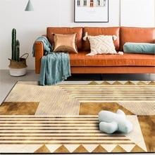 Fashion modern Golden geometry Stitching marble carpet bedroom Bedside rug living room Non-slip door mat plush mat custom made golden color custom made backlit door house numbers