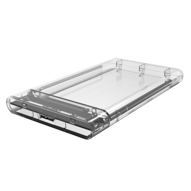 ULT 2 5 Inch Transparent SATA3 Interface Hard Drive Enclosure Hard Disk Box  Support 10TB Capacity & 5GB Signal Input disco duro-in HDD Enclosure from
