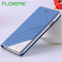 FLOVEME Luxury Leather Phone Cases For IPhone 5 5S SE 6 6S 7 Plus Full Protective