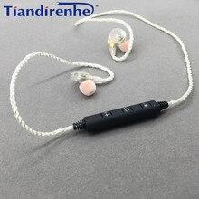 MMCX DIY SE215 Bluetooth Kulaklık Orijinal Gümüş Kaplama 76 Çekirdek Kablo Ayrılabilir Tel Shure SE315 SE535 SE846 UE900