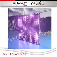 wholesale factory price dj led screen P7cm 2m high*2m width club tv design decora led video curtain