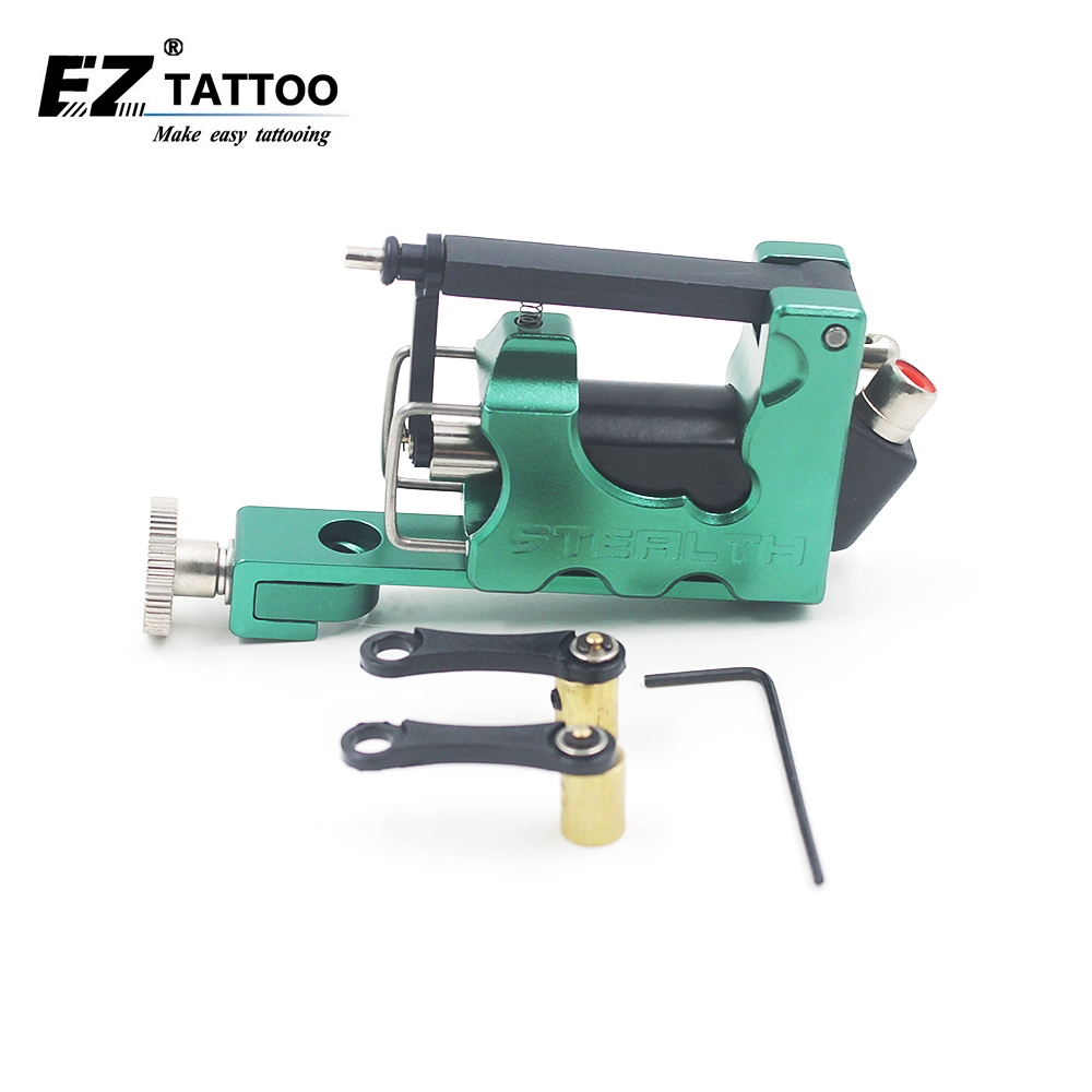EZ Electric Tattoo Machine Alloy Stealth 2.0 Rotary Tattoo Machine 7 farger Permanent Makeup Tattoo Maskinsett 1 sett / mye