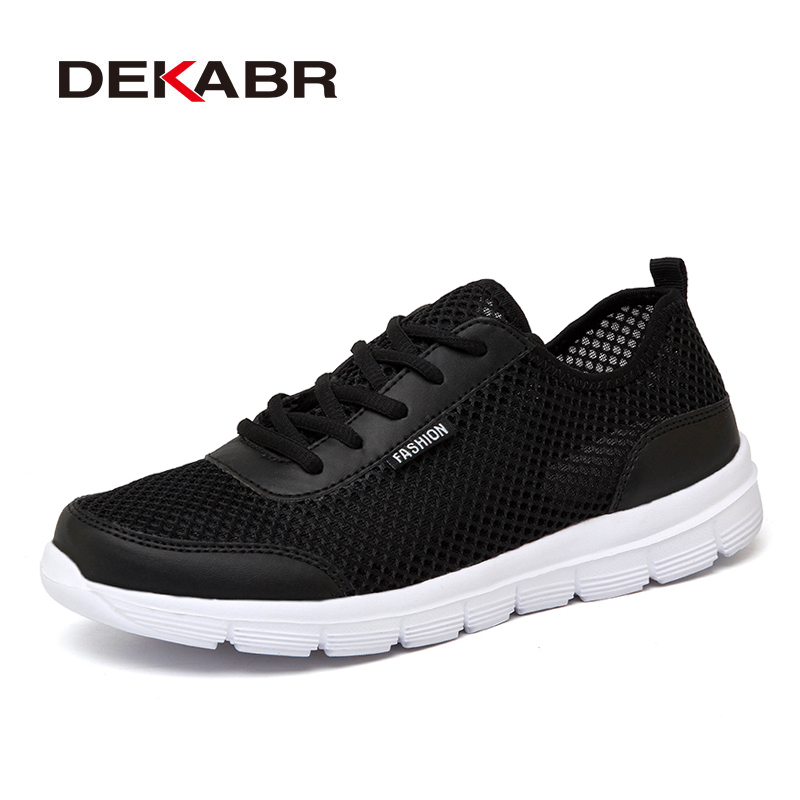DEKABR Brand Woman Shoes Summer New Fashion Breathable Mesh Light Weight Unisex Lace-up Causal Shoes Woman Plus Big Size 35~46 pinsen fashion women shoes summer breathable lace up casual shoes big size 35 42 light comfort light weight air mesh women flats