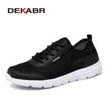 DEKABR Brand Woman Shoes Summer New Fashion Breathable Mesh Light Weight Unisex Lace-up Causal Shoes Woman Plus Big Size 35~46