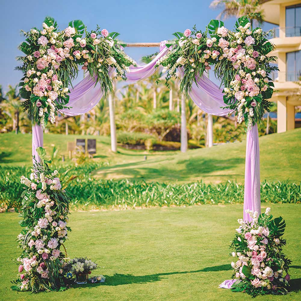 0 8 1 2m Wedding Arch Backdrop Flower Arrangement Party Event Decor Artificial Flowers Wall Silk Rose Peony Plant DIY Garland in Artificial Dried Flowers from Home Garden
