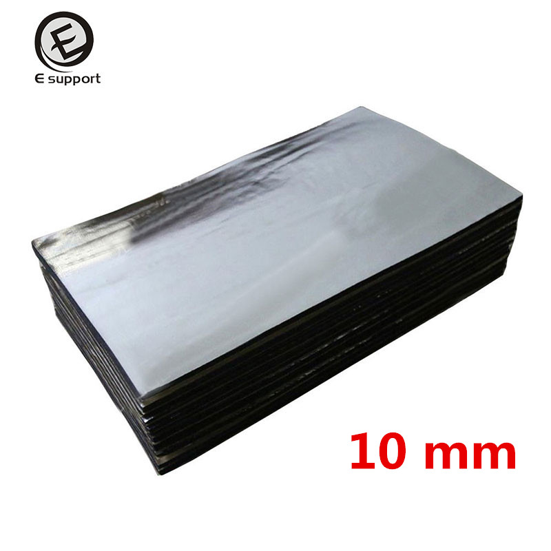6 sheets lot car sound proofing deadening insulation heat 10mm foam glass fibre auto interior. Black Bedroom Furniture Sets. Home Design Ideas