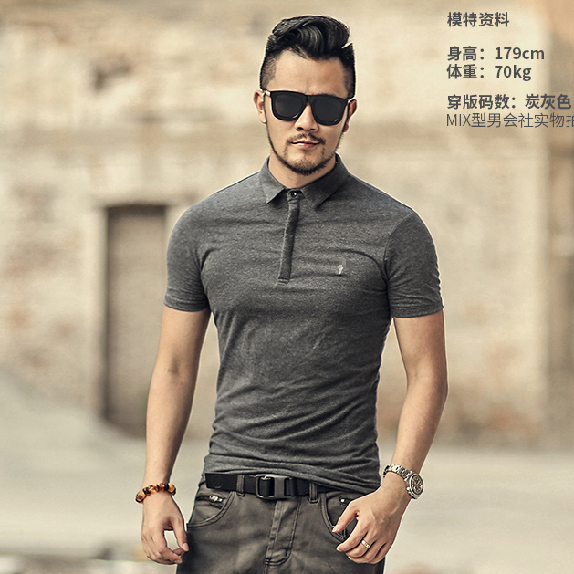 Image 3 - Brand Mens Business Polo Shirts Men Desiger Polos Men Cotton Short Sleeve shirt Clothes Summer Polos SolidPolo
