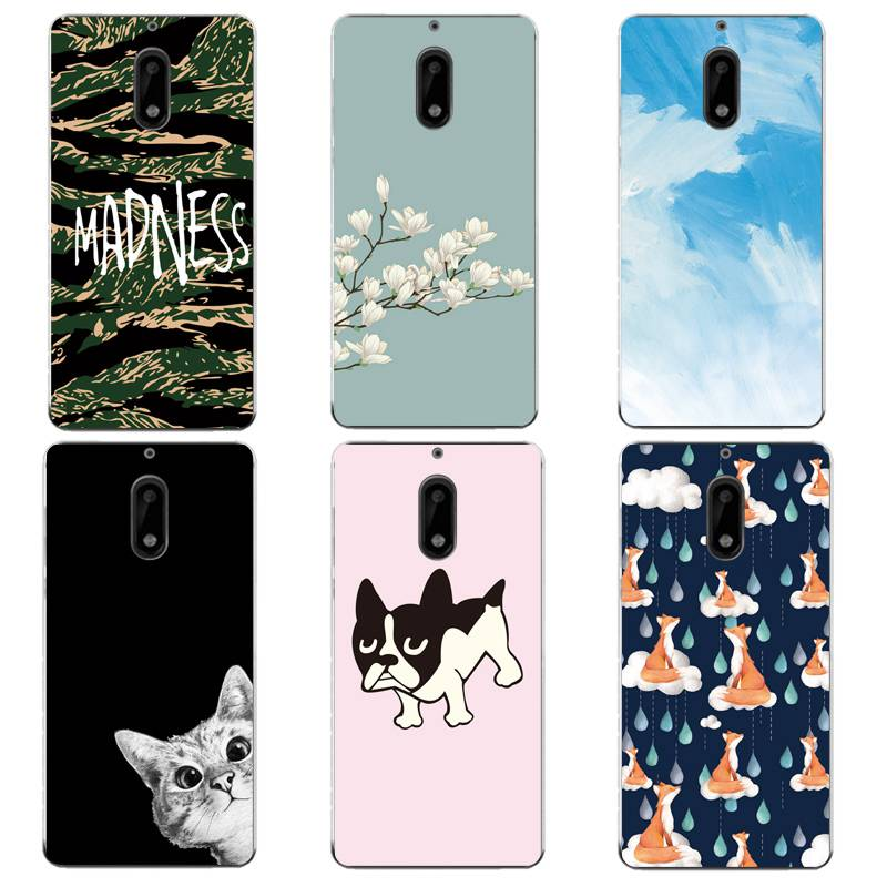 Sky Soft Clear TPU Phone <font><b>Case</b></font> For Nokia3 5 6 8 N540 N640 N535 N830 Coque Fox Cat <font><b>Dog</b></font> Printed Protective ShellCover Free Shipping image