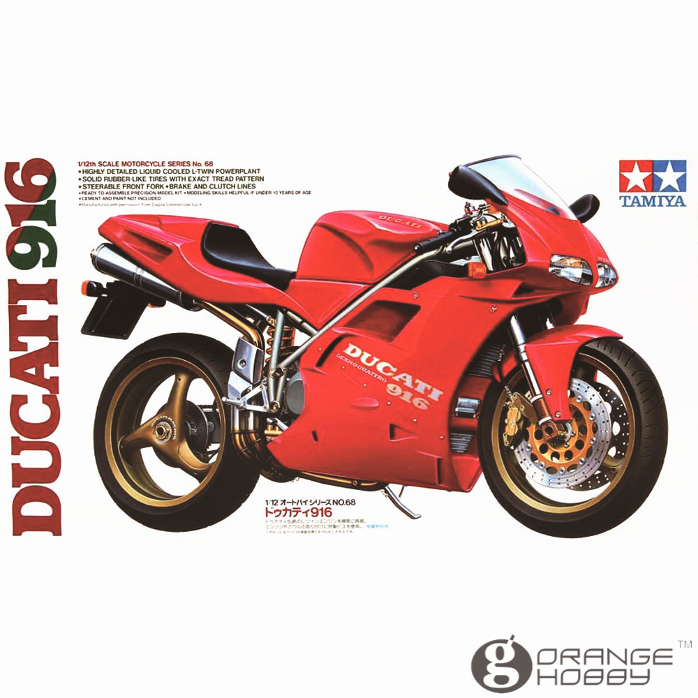 OHS Tamiya 14068 1/12 916 Scale Assembly Motorcycle Model Building Kits