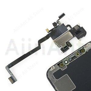 Image 2 - Fone de ouvido original flex, para iphone x xs max xr, proximidade, sensor de luz, som, fone de ouvido, alto falante, montagem por cabo flexível