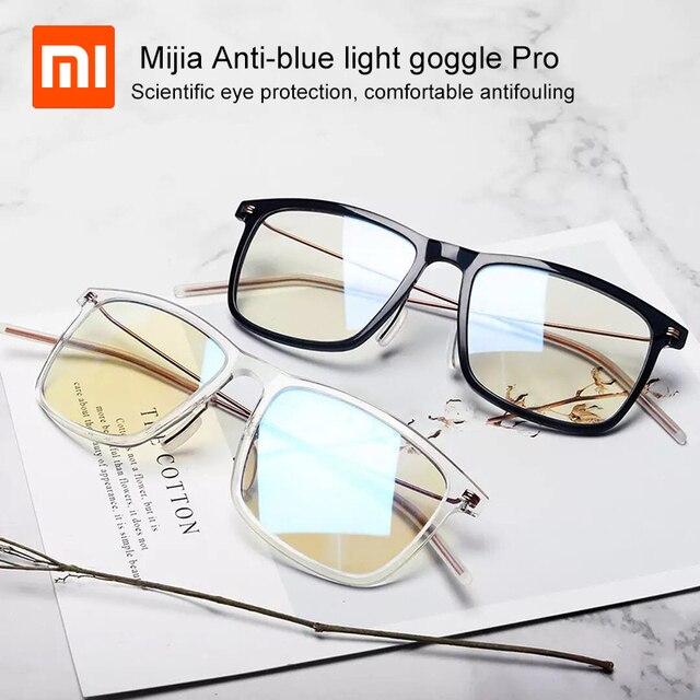 أحدث شاومي Mijia مكافحة الضوء الأزرق حملق برو شاومي نظارات 50% الأزرق حجب معدل الحد الأدنى تصميم الوجهين النفط المقاومة
