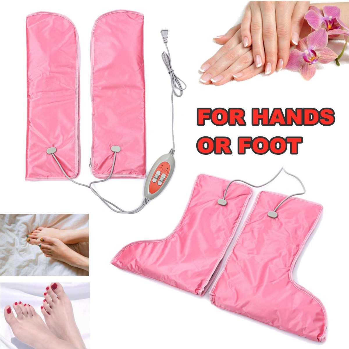 45 W ~ 60 W 220 V gants chauffants électriques mitaines traitement de thérapie infrarouge pied main plus chaud manucure soins ongles Art équipement outils
