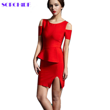 SORCHIDF 2016 Autumn Slim Strapless Skeleton Dresses Party Night Club Dresses bodycon bandage Dresses