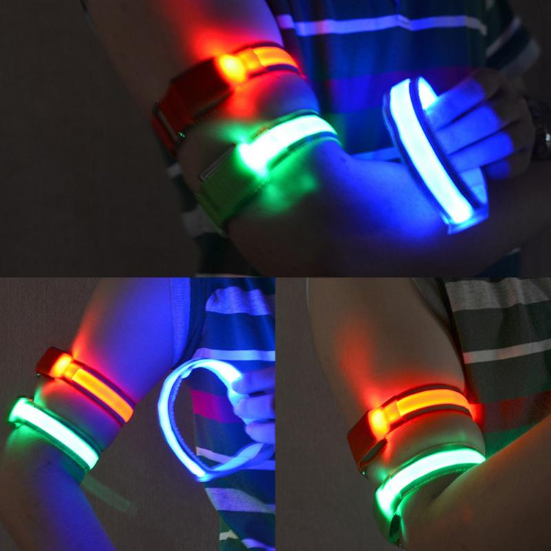 Outdoor Sports Reflective Safety Belt Arm Strap Night Cycling Running LED Armband