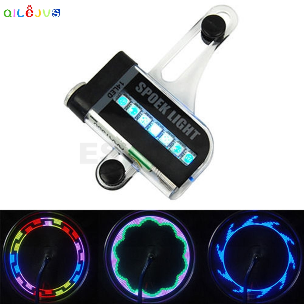 14 LED Motorcycle Cycling Bicycle Bike Wheel Signal Tire Spoke Light 30 Changes Bike Accessories Bicycle Light