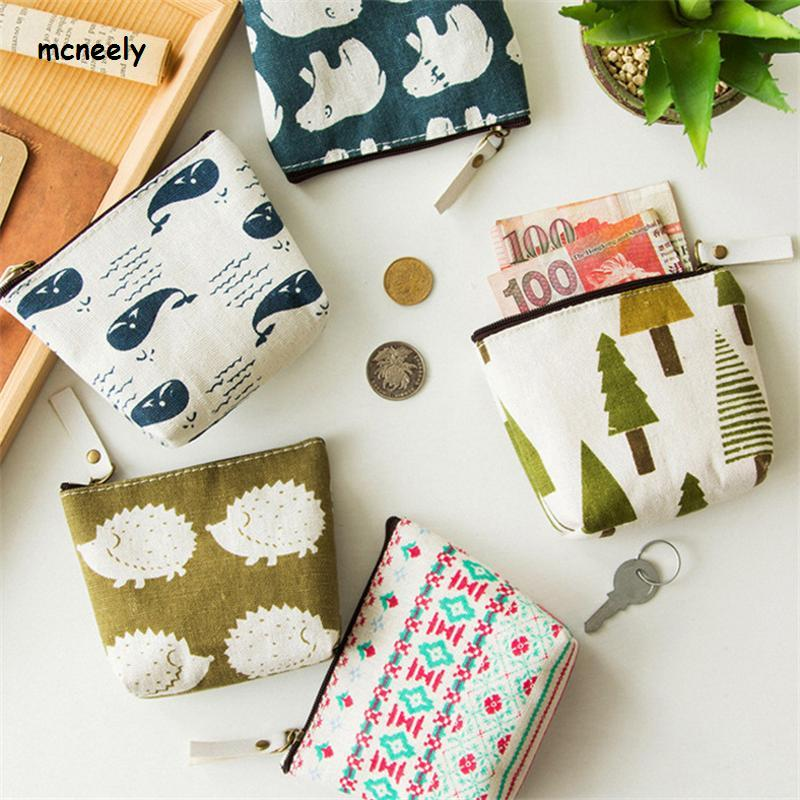 New Arrival High Quality New Style Coin Purses Ladies Canvas Wallet Small Zipper Pouch Cute Portable Key Coin Purse Bag
