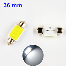 COB LED Bulb 12 Chips C5W DC12V White Color Car Dome Light Lamp