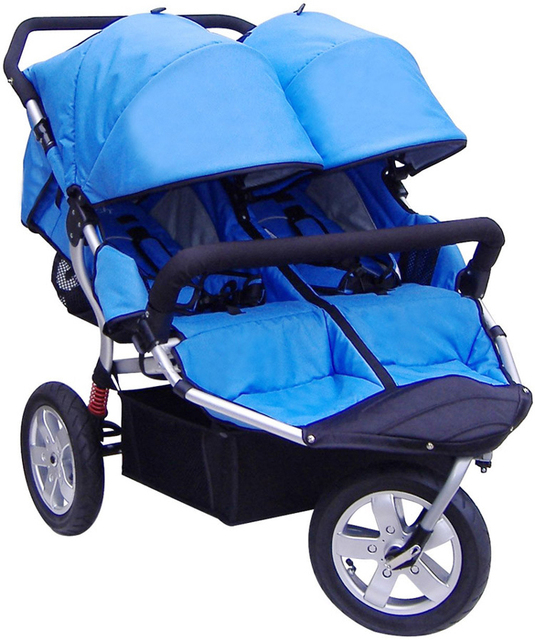 Hot Hot Sale Stroller,Children Twins Pram on Sale,4 Optional Color,Canopy Can Remove All Cover Shade,Baby Pram Double Stroller