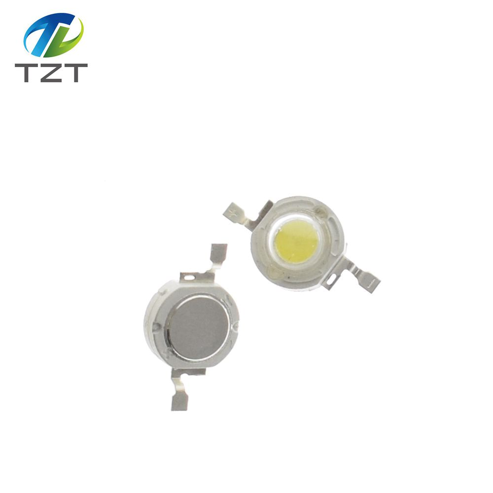Integrated Circuits 10pcs High Power 1w 100-120lm 3.2-3.4v White Led Lamp 6000-6500k Long Performance Life Active Components