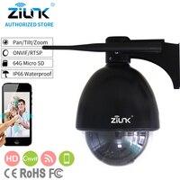 Zilnk جديد 1080 وعاء كامل hd كاميرا ptz سرعة قبة ip 5x التكبير cctv wifi tf بطاقة كشف الحركة للماء onvif h.264 أسود