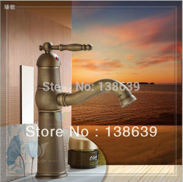 antique basin faucet,material brass brushed sink mixer faucet in the ...