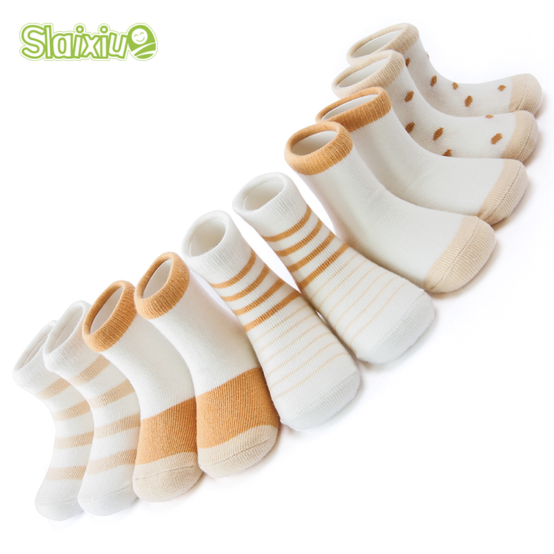 5 Pair/lot Cute Stripe Spell Color Kids Socks Soft Cotton Boys Girls Socks For Baby Boy Girl 5 Kinds Style Suitable For 1-12Y