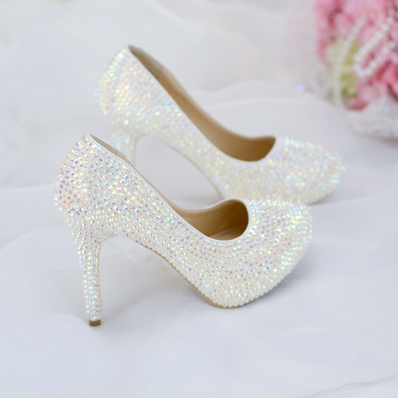 931b990f0e Detail Feedback Questions about Wedding Pumps With Rhinestones White  Colorful Glittering Crystals 6cm 8cm 11cm 14cm Women Shoes Date Night Bar  Ladies High ...