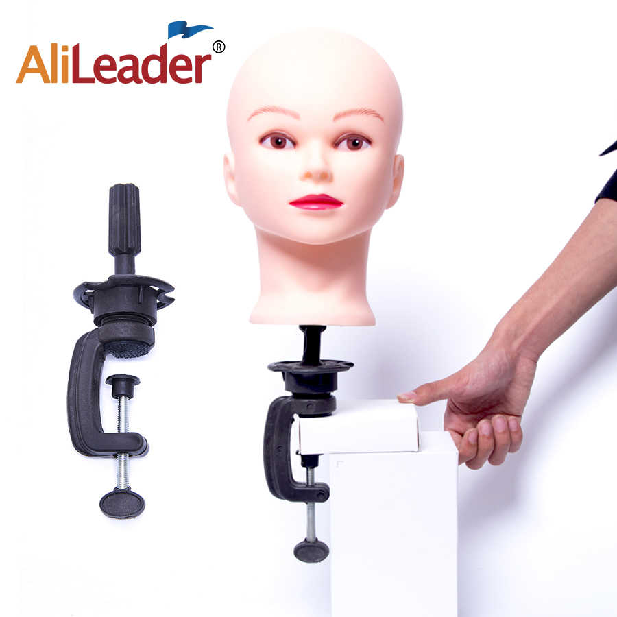 Alileader Populer Wig Berdiri Manekin Kepala Pelatihan Dudukan Wig Berdiri Cosplay Membuat Latihan untuk Kanvas Wig Kepala Clamp