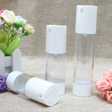 Free Shipping High-grade 30ml 50ml White Lotion Refillable Bottle Plastic Pump Cleanser Cosmetic Containers 100pcs/lot