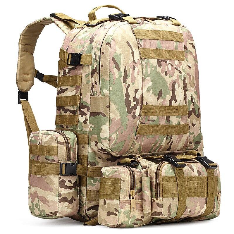 Assemblage extérieur sacs à dos sac à dos tactique Camo sac militaire randonnée voyage sac à dos démontage modulaire escalade armée sac