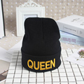 2017 Couple's Knitted Beanies Caps Spring Winter Bonnet Hats For Women Men Beanie Black Skullies Bonnet Female Caps Hats  WS163