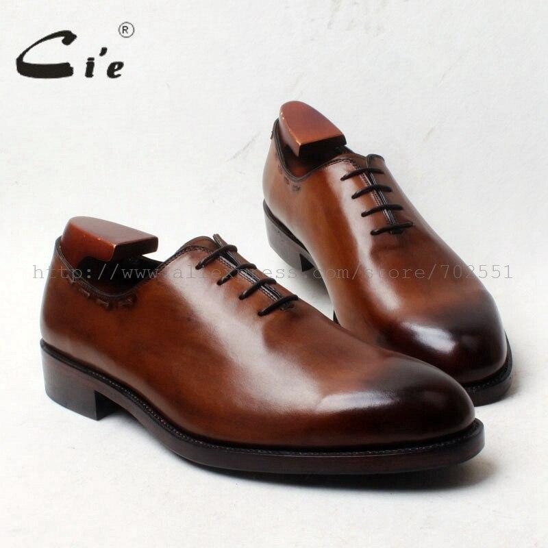 CIE круглый носок Весь вырезать Кружево-Up Обувь шнурованная для женщин 100% натуральной телячьей кожи дно подошва дышащая Для мужчин обуви пла...