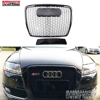 Car Racing Grill For Audi A6 A6 Quattro 2005 2011 Grille With Emblems Radiator Chrome Front
