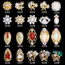 100pcs new Alloy 3D Nail Art Stickers shell starfish tassel pendant jewelry Glitter nail gel tools DIY Rhinestone 3321-3340