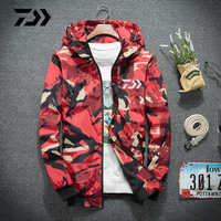 Daiwa Fishing Jacket Spring Summer Uv Protection Fishing Hooded Outdoor Breathable Sports Camping Camouflage Fishing Clothing