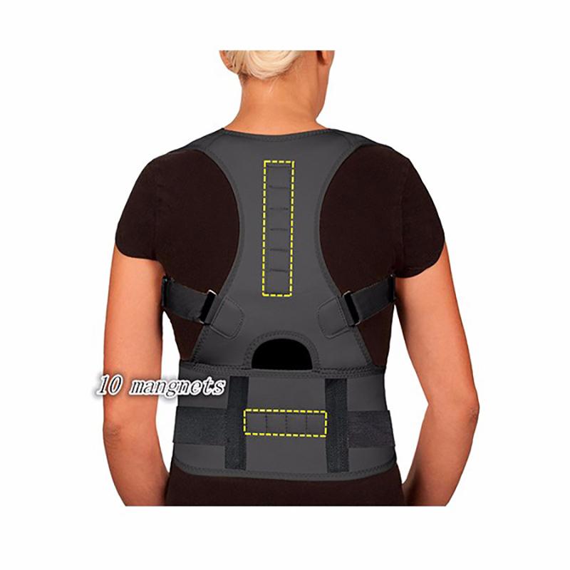 Magnética Corrector de Postura para Hombres Mujeres Correcteur De Terapia Magnética Correa de Hombro Corsé Enderezadora Trasera Postura AFT-B002